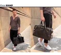 black mens bags-black elegant leather handbag and should bag for men-leather men's two-way travel bag