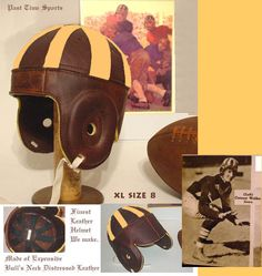 OLD IOWA HAWKEYES leather football helmet