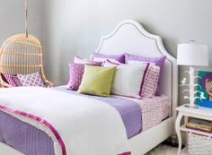 Pretty big girl room in lavender and white