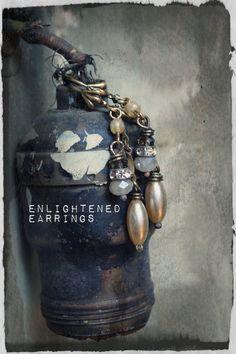 Enlightened Earrings. $28.00, via Etsy.