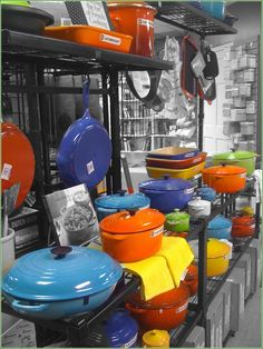 The colors of Le Creuset