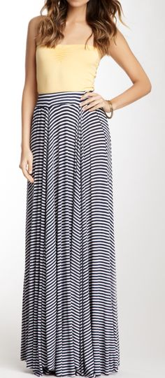 Stripes maxi skirt