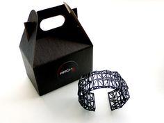 geometric neon jewelry Faceted Cuff bracelet in by ArchetypeZ, $36.00