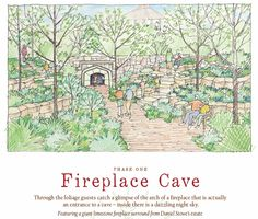 The planned Fireplace Cave was originally a fireplace from Daniel Stowe's Estate. It will be part of Lost Hollow: The Kimbrell Children's Garden at Daniel Stowe Botanical Garden.