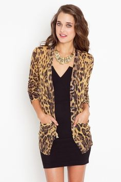 Leopard and black, these are few of my favorite things (to wear)