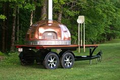 Mobile Wood Fired Oven / Le Panyol / Wood Fired Food / Foodie