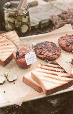 Tomato Jam with Meatloaf Burgers