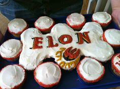 Going away/Birthday cupcakes for my cousin. Anyone else go to Elon University in North Carolina ?
