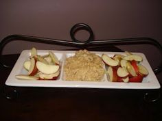 Cream cheese caramel apple dip