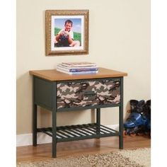 Cameron Army Camouflage Nightstand Powell