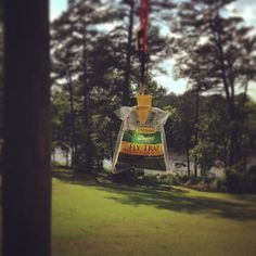 Hang a disposable fly trap from a bungee cord to keep insects away from your campsite.