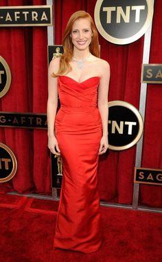 Jessica Chastain in Alexander McQueen - SAG Awards