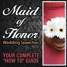Maid of Honor Speech Ideas