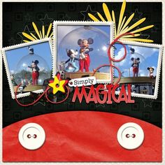 Magical disney scrapbook page