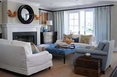 basic fireplace furniture layout