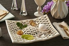 Passover Gift Guide 2014: Sleek and Stylish - Make a Wave Ultramodern Pierced Seder plate