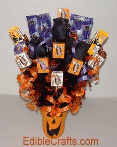 DIY Halloween Candy Bouquet centerpiece