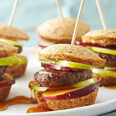 Start your day with these Maple Corn Muffin & Sausage Sandwiches! More healthy breakfast recipes: http://www.bhg.com/recipes/healthy/breakfast/heart-healthy-breakfast-recipes/?socsrc=bhgpin072613sausagesandwiches=3