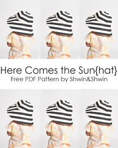 Here Comes the Sun{hat} || Free PDF Pattern || Summer Collection - Shwin&Shwin