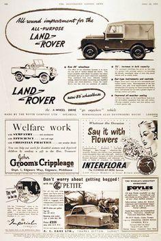 Vintage Land Rover advertising