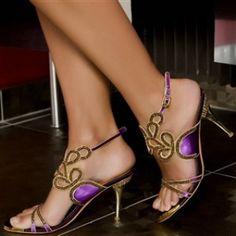 mardi gras shoe