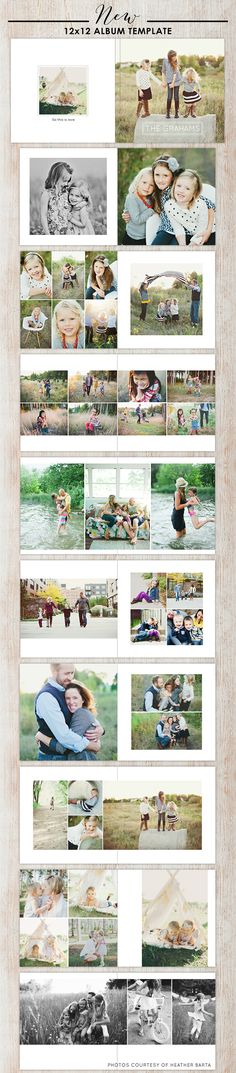 12x12 Photoshop album template design for photographers - all occasion album every photographer need one!