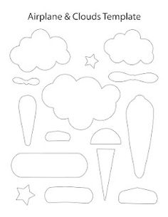 airplane and cloud template