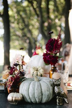 Fall centerpiece // event design by Grit + Gold, photo by Heather Hawkins