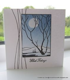 handmade card ... winter scene ... luv the graphic feel  ... from Chocolate Baroque ...