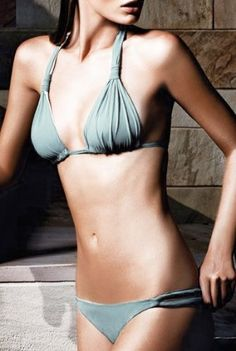 Caribbean Blue Triangle French Bikini Swimsuit SML « Clothing Impulse