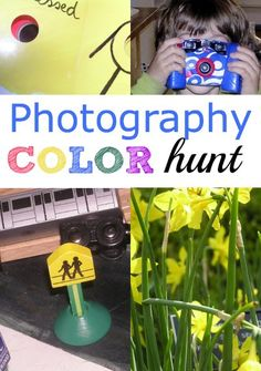 Such a fun way for kids to learn about photography: go on a color hunt!