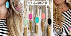 Super cute Kendra Scott and Stella and Dot knock offs at bargain prices.