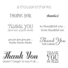 Do you make a lot of Thank You cards?  Consider purchasing this Stampin' Up! stamp set-- Lots of Thanks.  It sells for $16.95.