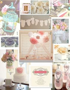 Girl baby shower inspiration......could do the same ideas for a boy too...Love this look.