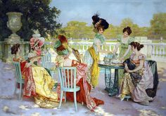 Jean Gabriel Sala. Parisian tea party