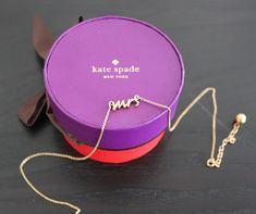 <3 this cute Kate Spade Mrs. Necklace!