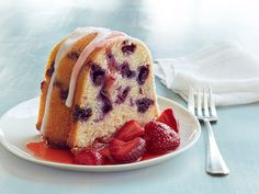 Blueberry Buttermilk Bundt Cake Recipe : Food Network Kitchens : Food Network