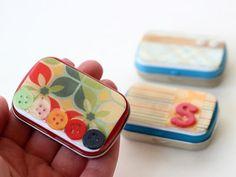 How to decoupage a tiny tin. - Mod Podge Rocks