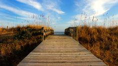 South Carolina beach boardwalk
