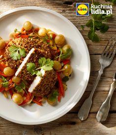 Szybki schab w pistacjach ze słodko-kwaśnymi warzywami. Kuchnia Lidla - Lidl Polska. #lidl #okrasa #schab #pistacje