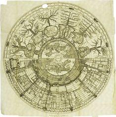 Spiegazione della Carta Istorica dell'Italia: Time represented as landscape. Rewards detailed examination.