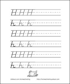 learning to write ...H