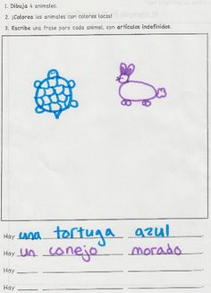 """animals & colors unit: """"Wacky animals!""""  My students LOVED any activity where they got to color animals crazy colors, including this one!"""
