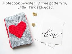 DIY: crocheted notebook cozy