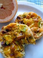 English Muffin Breakfast Pizzas-sounds interesting for our breakfast for dinner night (Monday).