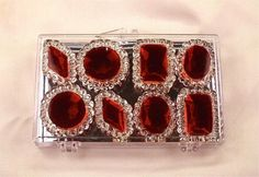 Burgundy Edible Jewels for Cakes