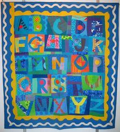 Wonky alphabet baby quilt