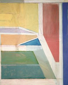 Richard Diebenkorn (American, 1922-1993). Ocean Park No. 27, 1970. Oil on canvas, 100 x 80 in.  (254.0 x 203.2 cm). Brooklyn Museum, Gift of The Roebling Society and Mr. and Mrs. Charles H. Blatt and Mr. and Mrs. William K. Jacobs, Jr., 72.4. © The Estate of Richard Diebenkorn