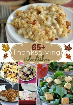 65+ Thanksgiving Side Dishes: come check out this great collection and find a new recipe for the holidays