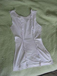Adding princess seams to a t-shirt